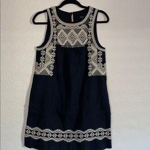 Madewell linen/cotton stitch sleeveless dress
